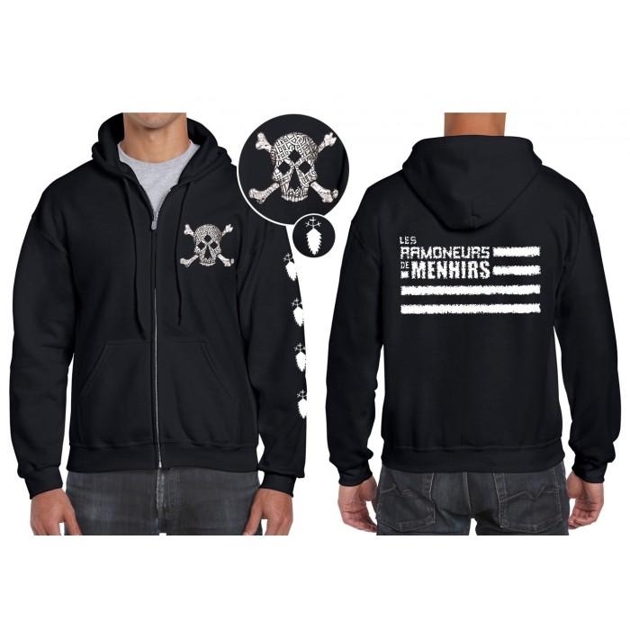 Sweat-shirt Zippé à Capuche avec le logo des Ramoneurs de Menhirs