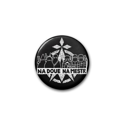 """Badge DIB """"na Doué na Mestr"""" noir / Ø 38 mm"""