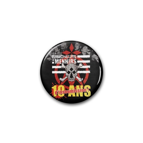 "Badge RDM ""10 ans d'insoumission"" / Ø 38 mm"