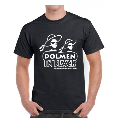Tee-shirt Dolmen in Black logo noir