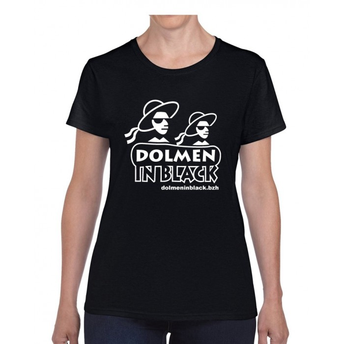 Tee-shirt logo Dolmen in Black noir