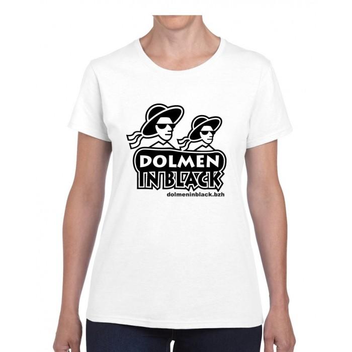 Tee-shirt Femme Logo Dolmen in Black Blanc