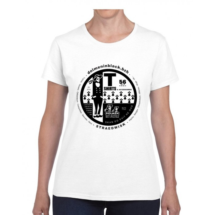 Tee-shirt Dolmen in Black v2 blanc