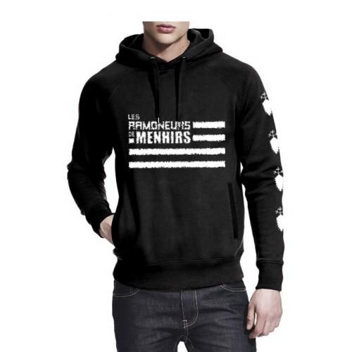 Sweat-shirt non zippé à capuche logo Ramoneurs de Menhirs