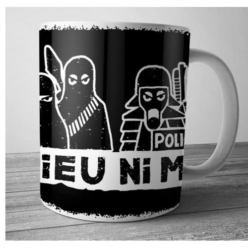 "Mug DIB ""ni dieu ni maître"" noir"