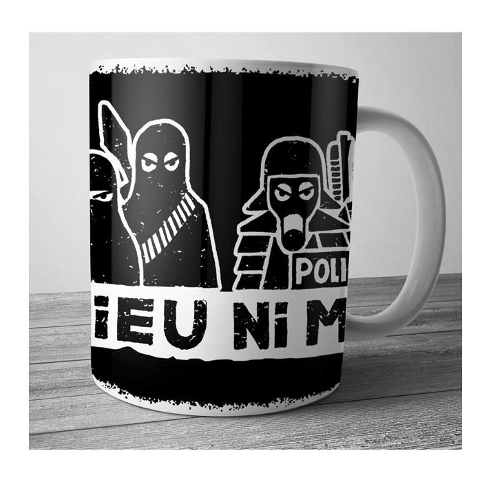 Mug Dolmen in Black ni dieu ni maître noir