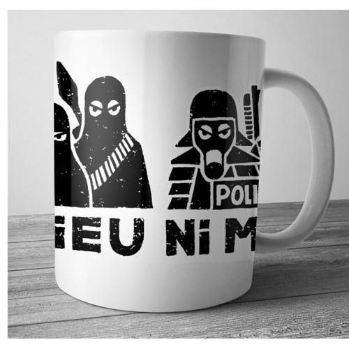"Mug DIB ""ni dieu ni maître"" blanc"