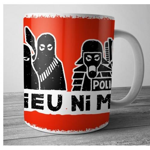 "Mug DIB ""ni dieu ni maître"" rouge"
