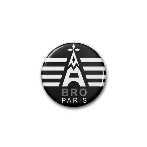 "Badge DIB ""Bro Paris"" / Ø 38 mm"