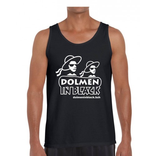 Débardeur Logo Dolmen in Black noir