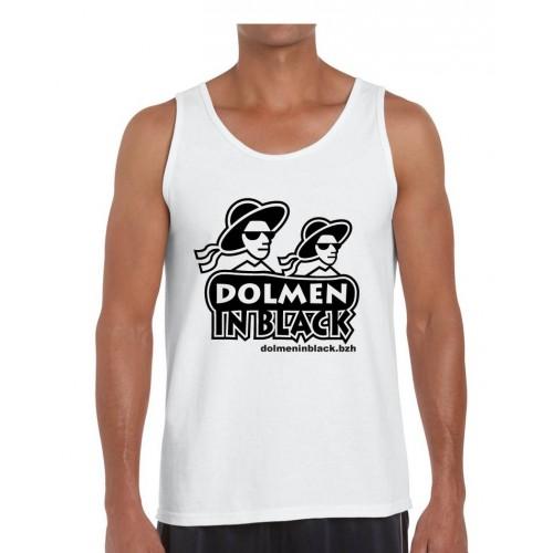 Débardeur Logo Dolmen in Black Blanc