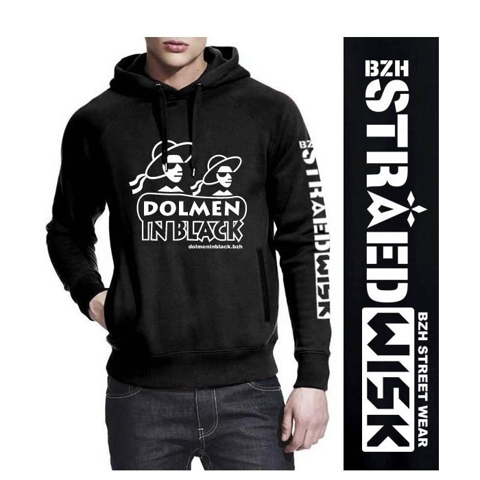 Sweat-shirt non zippé à capuche avec le logo Dolmen in Black