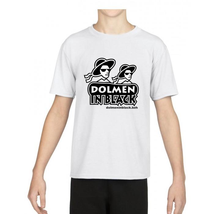 Tee-shirt Logo Dolmen in Black Blanc