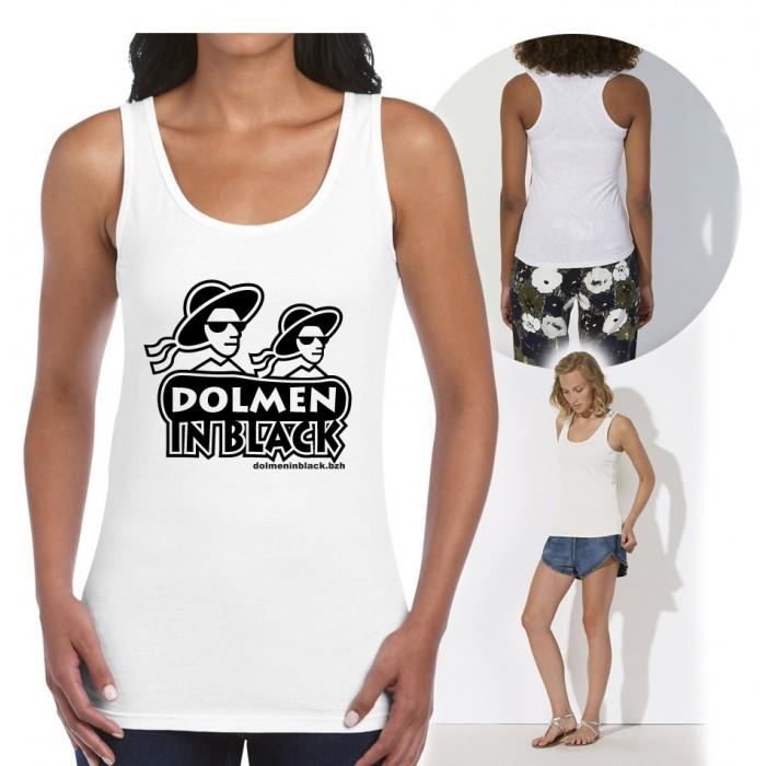 "Débardeur ""Logo Dolmen in Black blanc"""