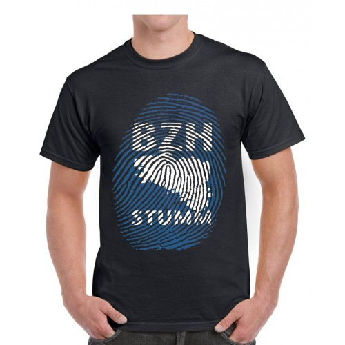 Tee-shirt Dolmen in Black BZH Stumm