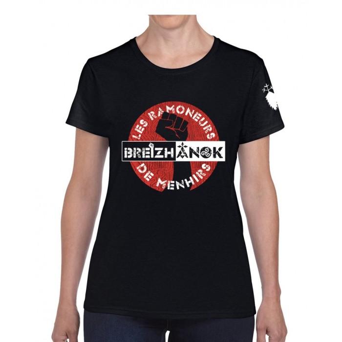 """Tee-shirt Femme """"Breizh Anok"""" noir"""