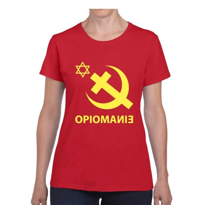 "Tee-shirt femme DIB ""Opiomanie"" rouge"
