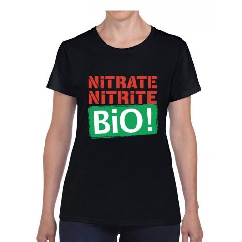 """Tee-shirt femme DIB """"Bio !"""" noir"""
