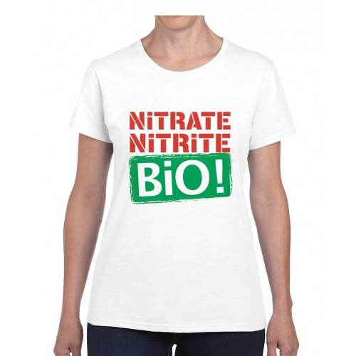 "Tee-shirt femme DIB ""Bio !"" blanc"