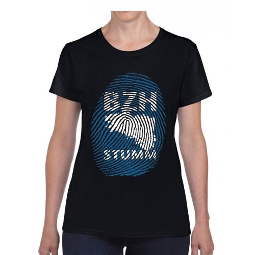 """Tee-shirt femme DIB """"BZH Stumm noir"""