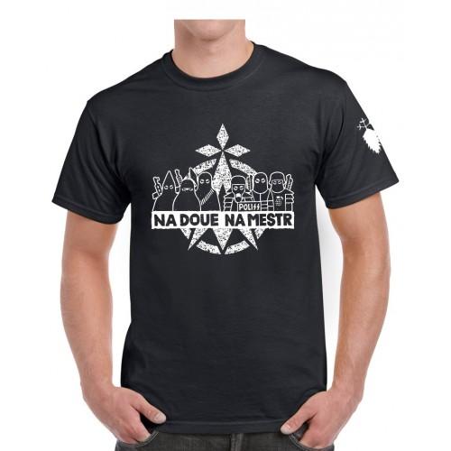 Tee-shirt ni Dieu ni Maître noir recto/verso
