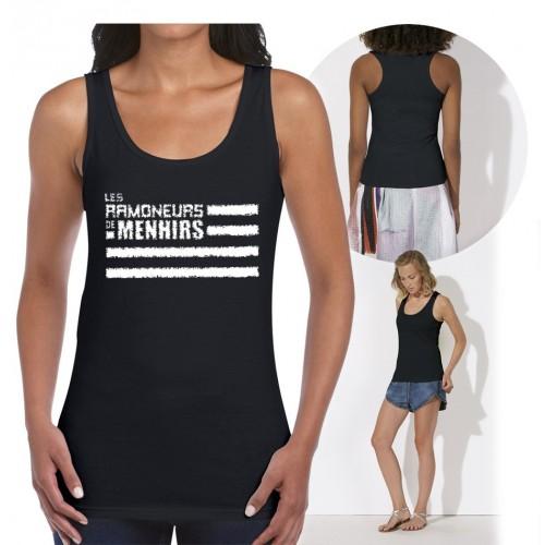 """Débardeur femme """"Logo Ramoneurs de Menhirs"""" noir"""
