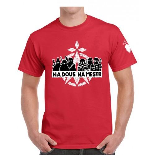 Tee-shirt ni Dieu ni Maître rouge recto/verso