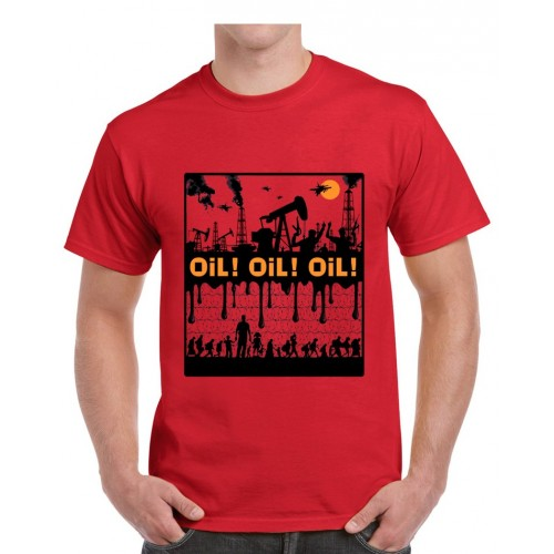 Tee-shirt Dolmen in Black Oil ! Oil ! Oil !