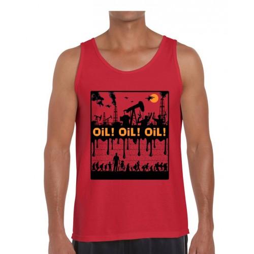 "Débardeur homme DIB ""Oil ! Oil ! Oil !"" rouge"