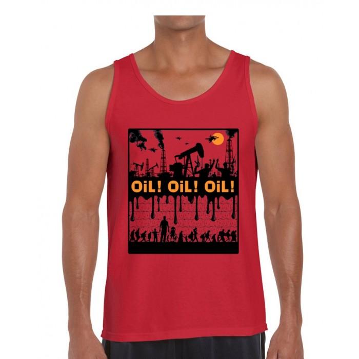 Débardeur Dolmen in Black Oil ! Oil ! Oil !