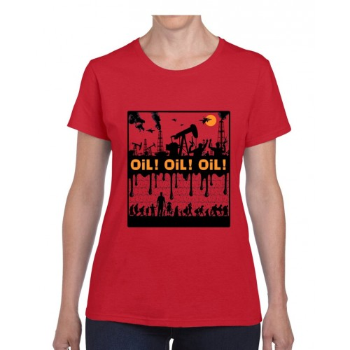 "Tee-shirt femme DIB ""Oil !"" rouge"