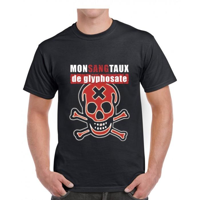 "Tee-shirt homme DIB ""Monsangtaux"" de Glyphosate"" noir"