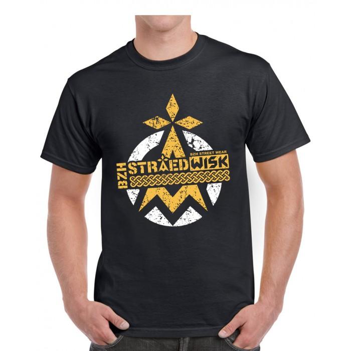 "Tee-shirt homme DIB ""bzhstraedwisk"" noir"