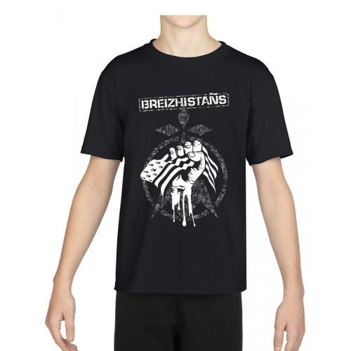 "Tee-shirt Enfant RDM ""Breizhistans"" noir"