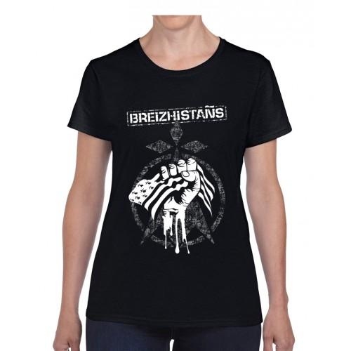 """Tee-shirt femme DIB """"Breizhistans noir"""