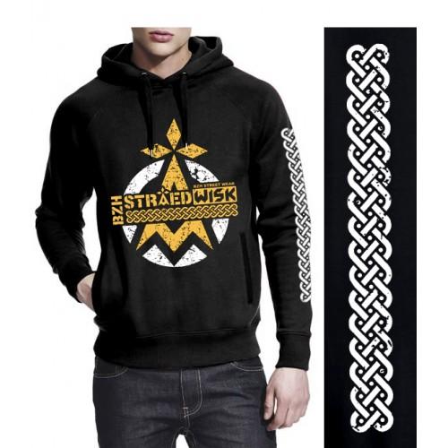 """Sweat-shirt non zippé à capuche DIB  """"lBZH Straedwisk"""" noir"""
